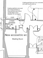 New accessible toilet for disabled people