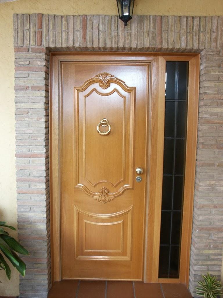 Puertas de madera de entrada principal puerta madera for Modelos de puertas principales