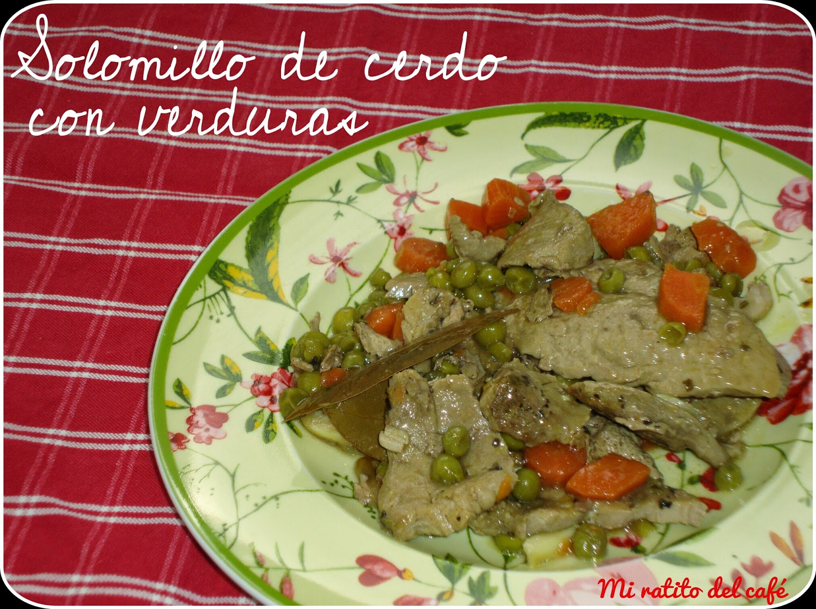Solomillo de cerdo con verduras