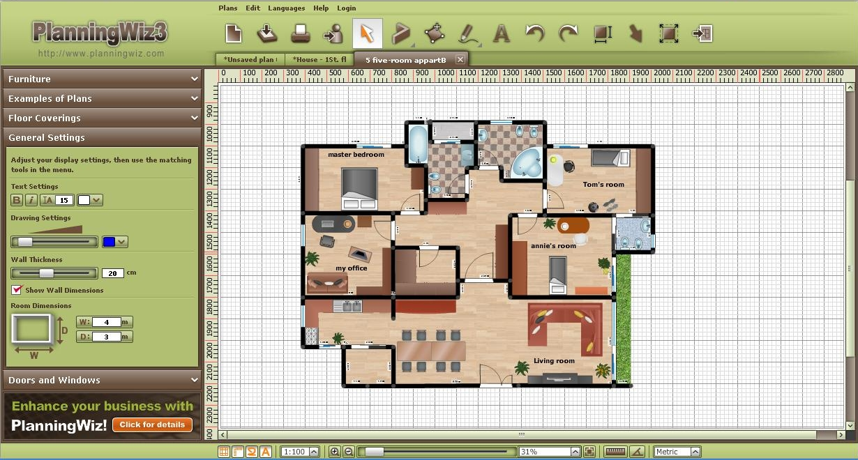 Free online floor layout tool business plan maker free for Free online room planner tool