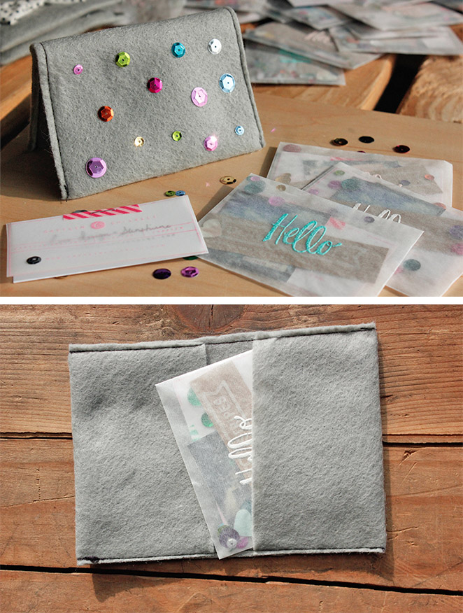 made by cay / a creative blog: Make This | Business Cards + Holder