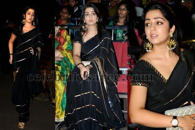 Charmi Black Stripes Saree