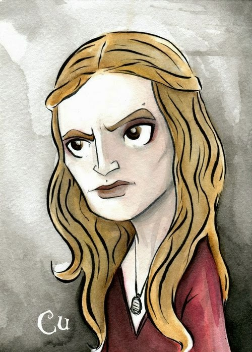 03-Game-of-Thrones-Cersei-Lannister-Chris-Uminga-Game-of-Thrones-Watercolours-www-designstack-co