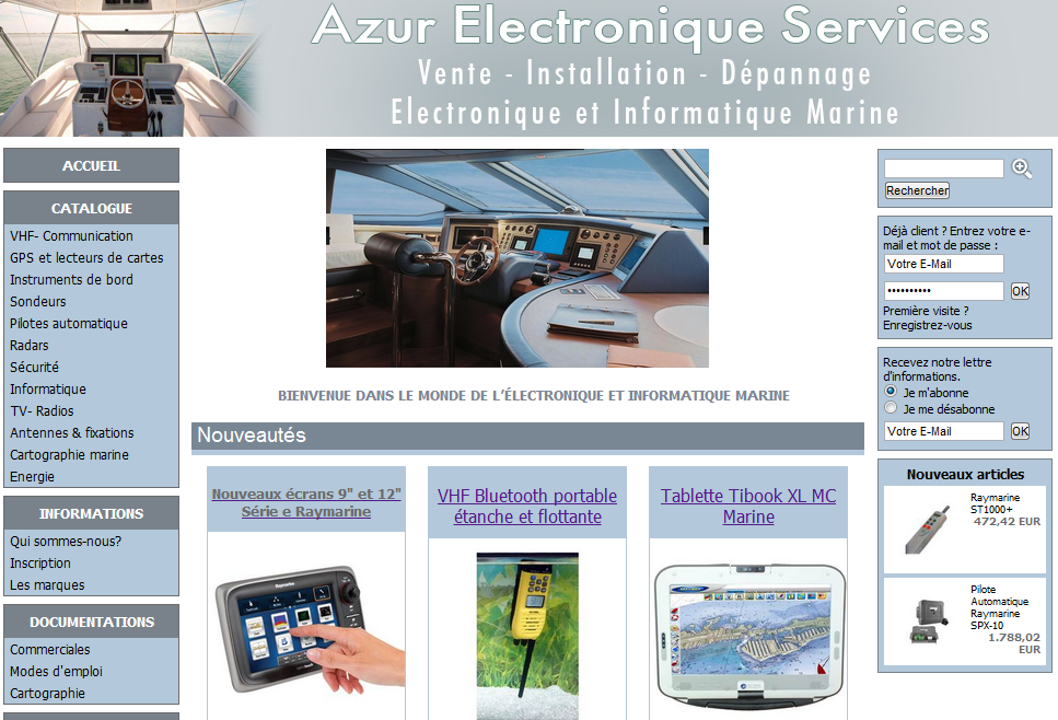 Boutique A.E.S. Azur Electronique Services marine