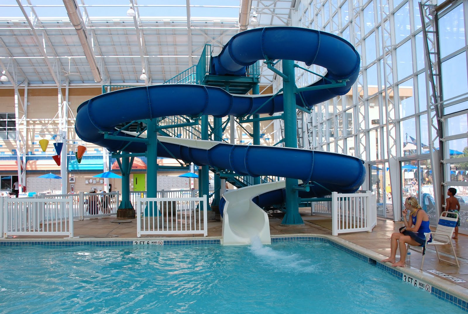 Indoor swimming pools with slides example for Swimming pool slides