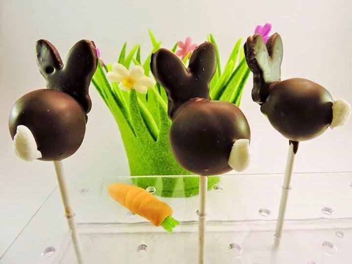 Sucettes lapin en chocolat