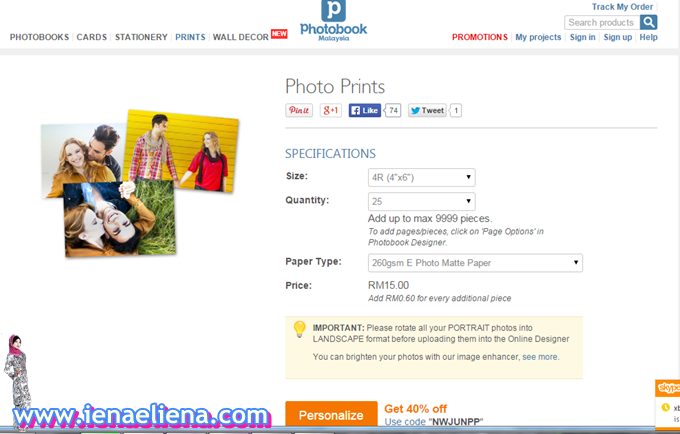 Tutorial Print 4R 100 Pieces di Photobook