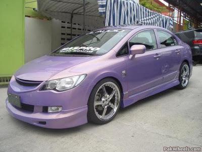 Modified Honda Civic Reborn Purple Modified Cars And