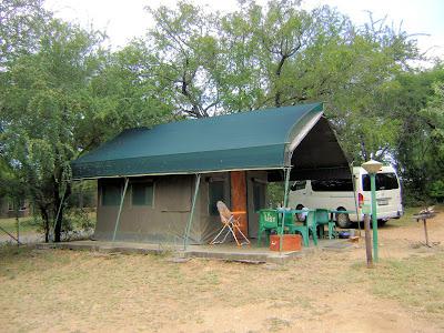 Stałe namioty w Skukuzie