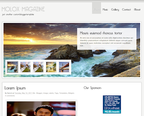 Molox Magazine Blogger Theme