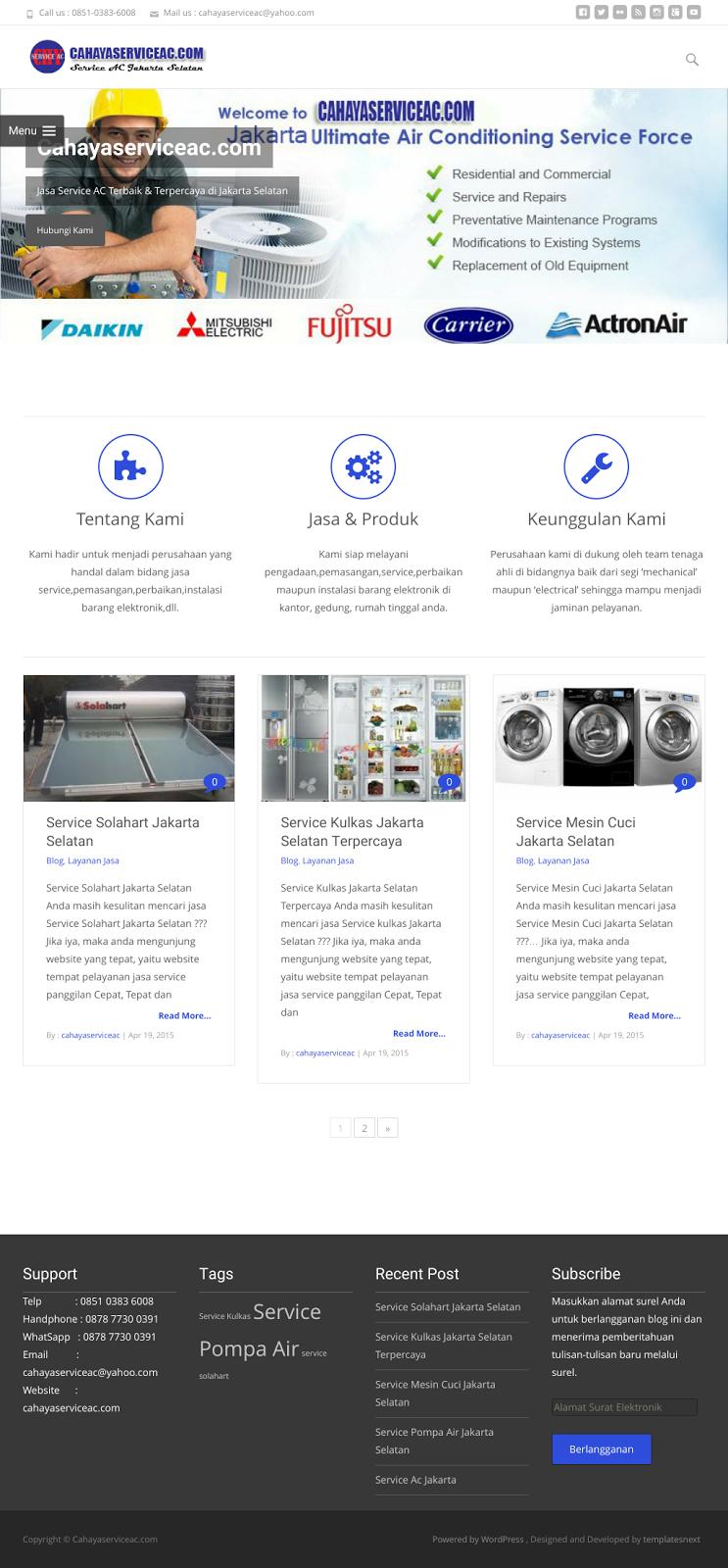 Design Website  Service Ac Jakarta Selatan