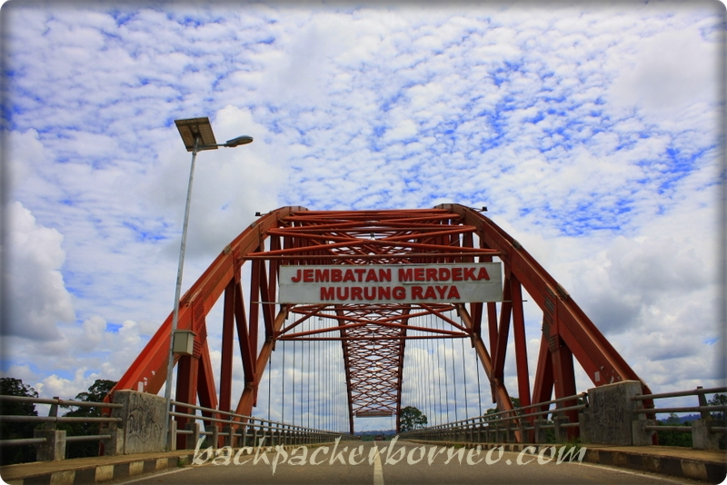 Gunung bondang, sering terlihat dari jembatan merdeka ketika cuaca