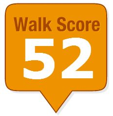 Walkscore badge: 52