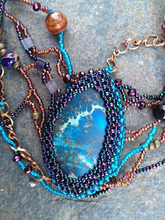 Beaded cabochon by Karen Williams