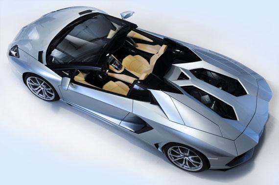 Lamborghini Aventador LP 700-4 Roadster top