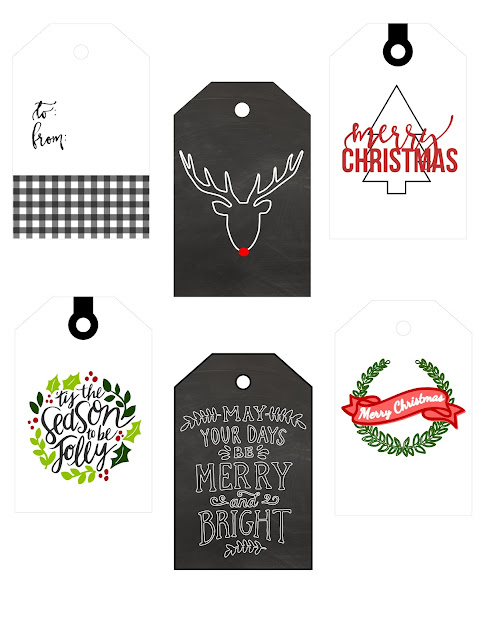 Printable gift tags, free holiday tags