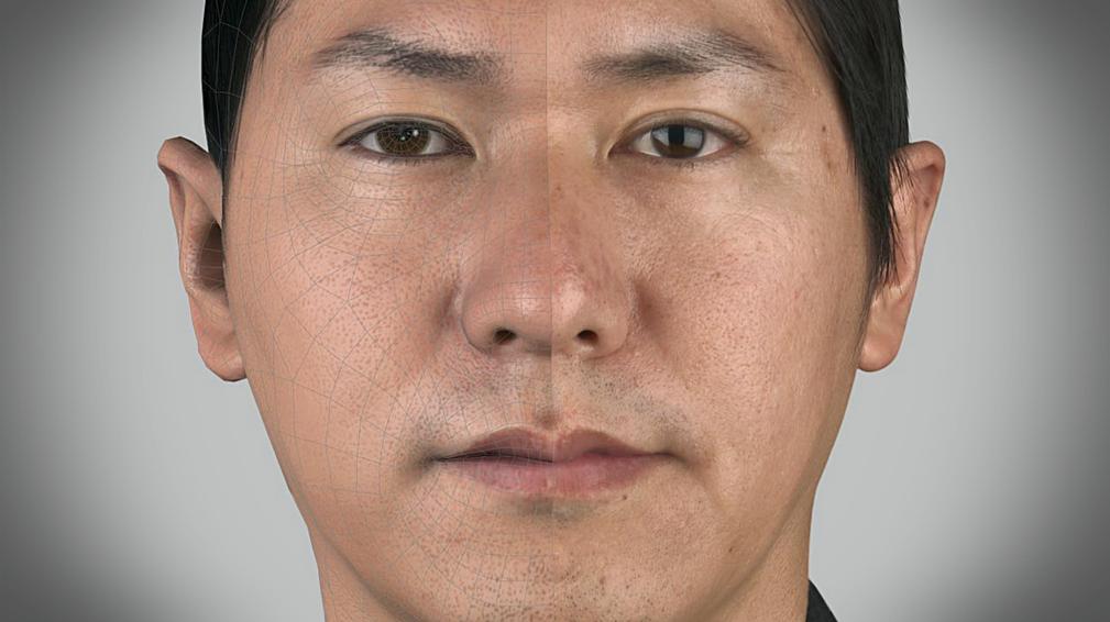 Imagem mostra rosto de jogador asiático do PES 2014
