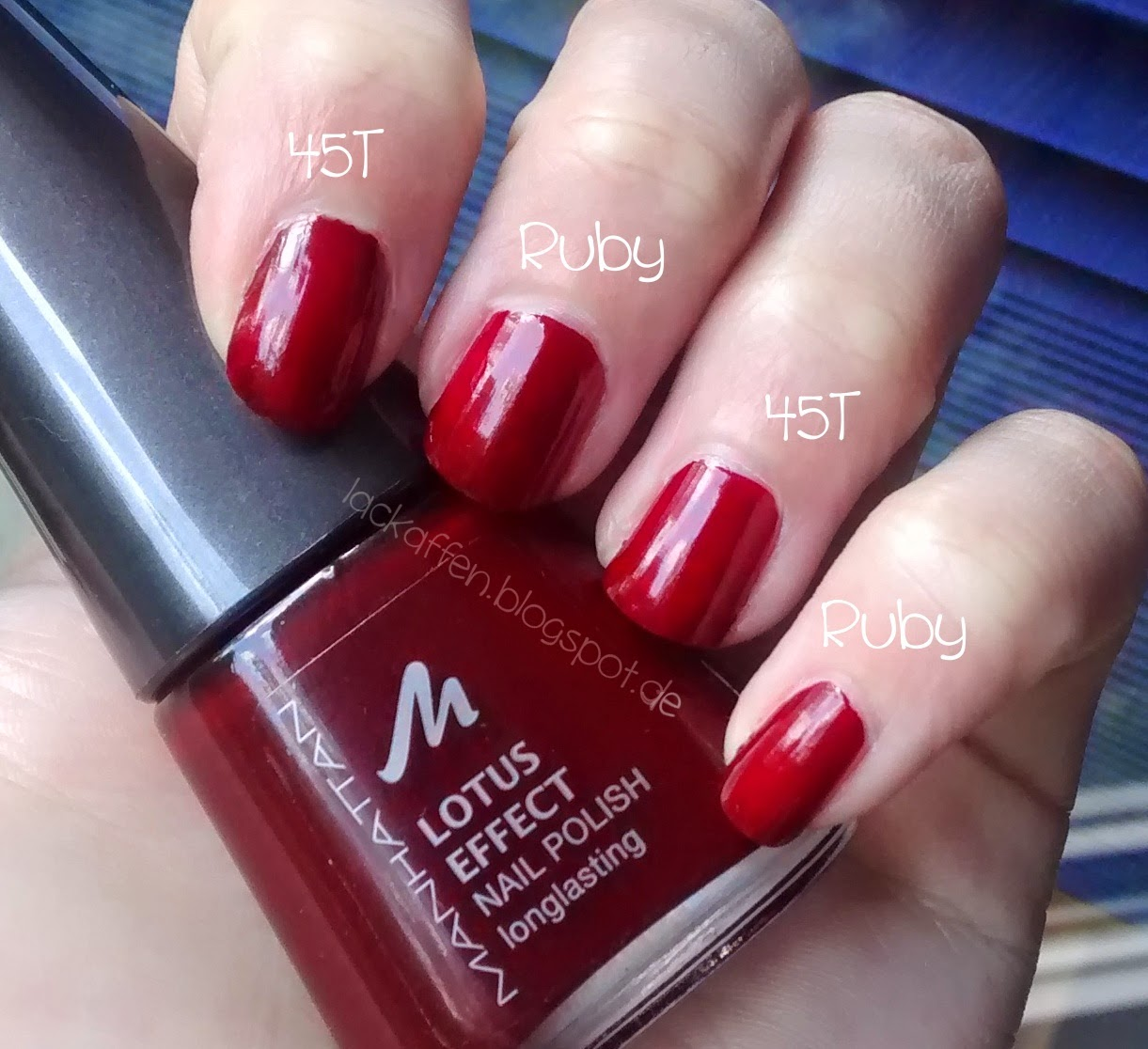 Lackaffen: Dupetest in Rot: Manhattan vs. Orly