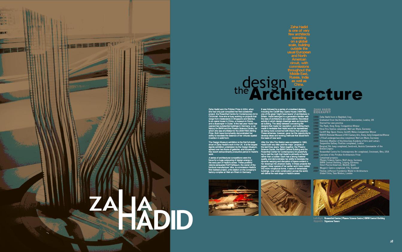 zaha hadid design philosophy pdf