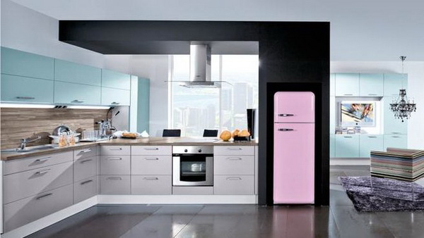 r frig rateurs avec des couleurs attrayantes pour les cuisines modernes d cor de maison. Black Bedroom Furniture Sets. Home Design Ideas