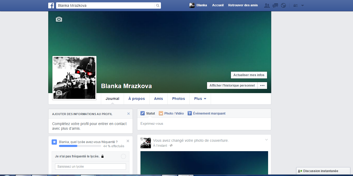 how to make a fake facebook account look real