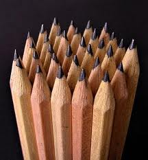 An image of pencils that are colored brown