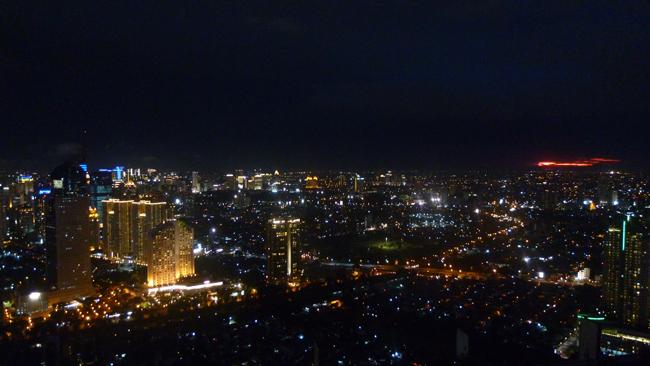 Bonita vista nocturna de Yakarta