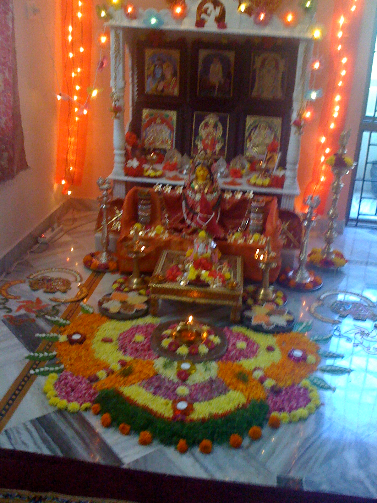 Pooja decorations navarathri pooja decoration for Decoration ideas