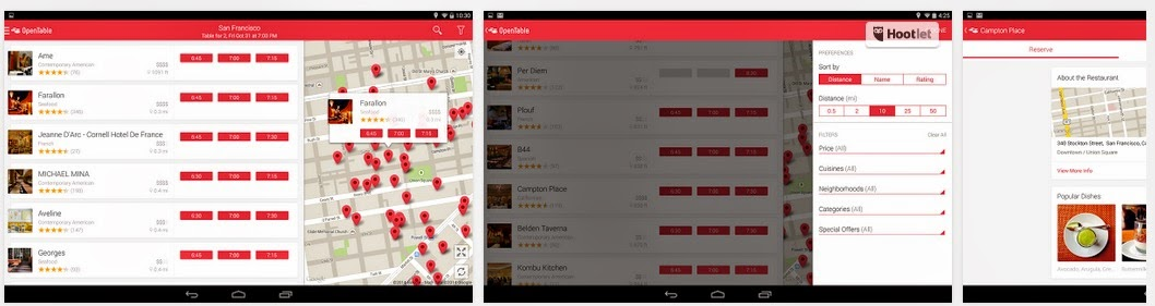 Restaurant Reservation android app