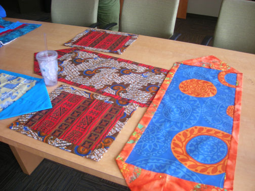 Eat sleep quilt testing teaching learning for 10 minute table runner directions