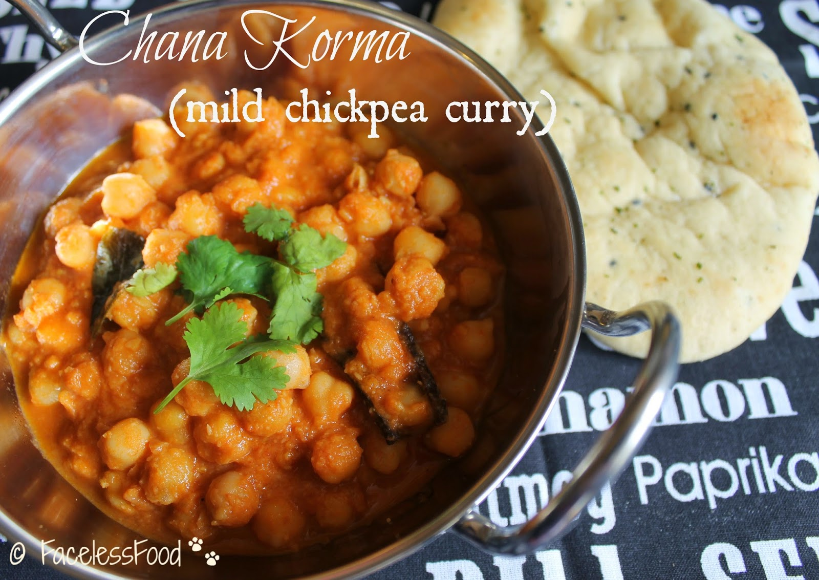 Chana Korma (mild chickpea curry)
