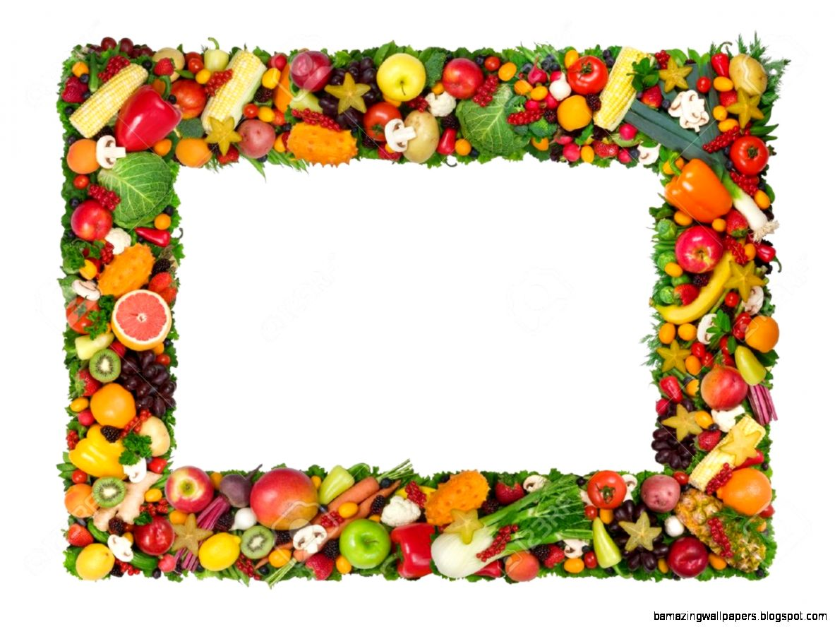 Fruit And Vegetable Frame Stock Photo Picture And Royalty Free