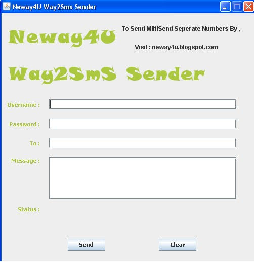 how to send sms using java web application
