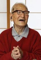 """京都の木村次郎右衛門さん(115):  <br>男女を含めて """"長寿世界一"""""""