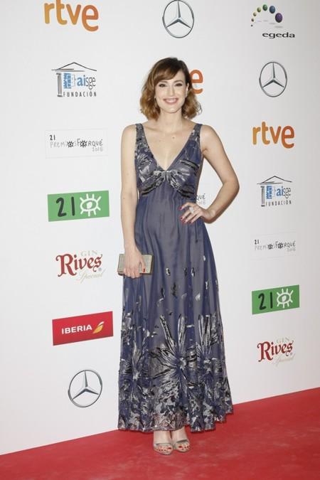 Natalia Molina en los Premios Forqué, enero 2016