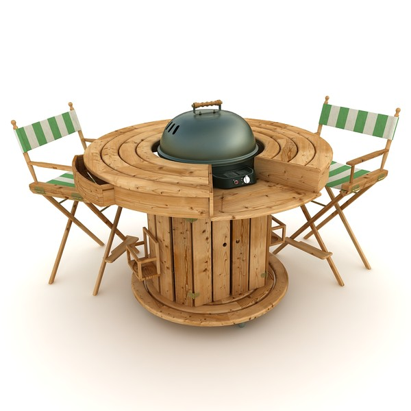 3D barbecue round table