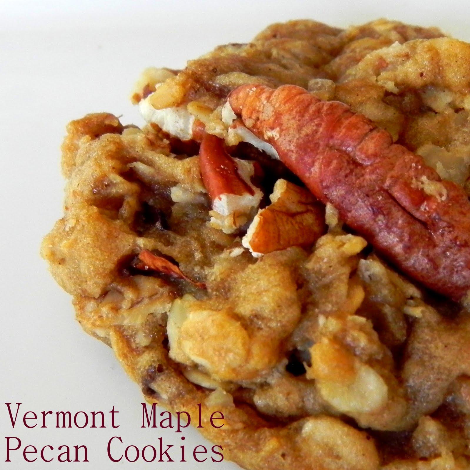 Recipe for vermont maple pecan cookies