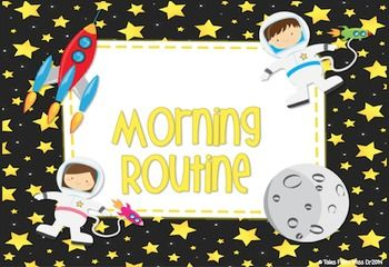 http://www.teacherspayteachers.com/Product/Morning-Routine-for-SMART-Notebook-Space-Theme-1341707