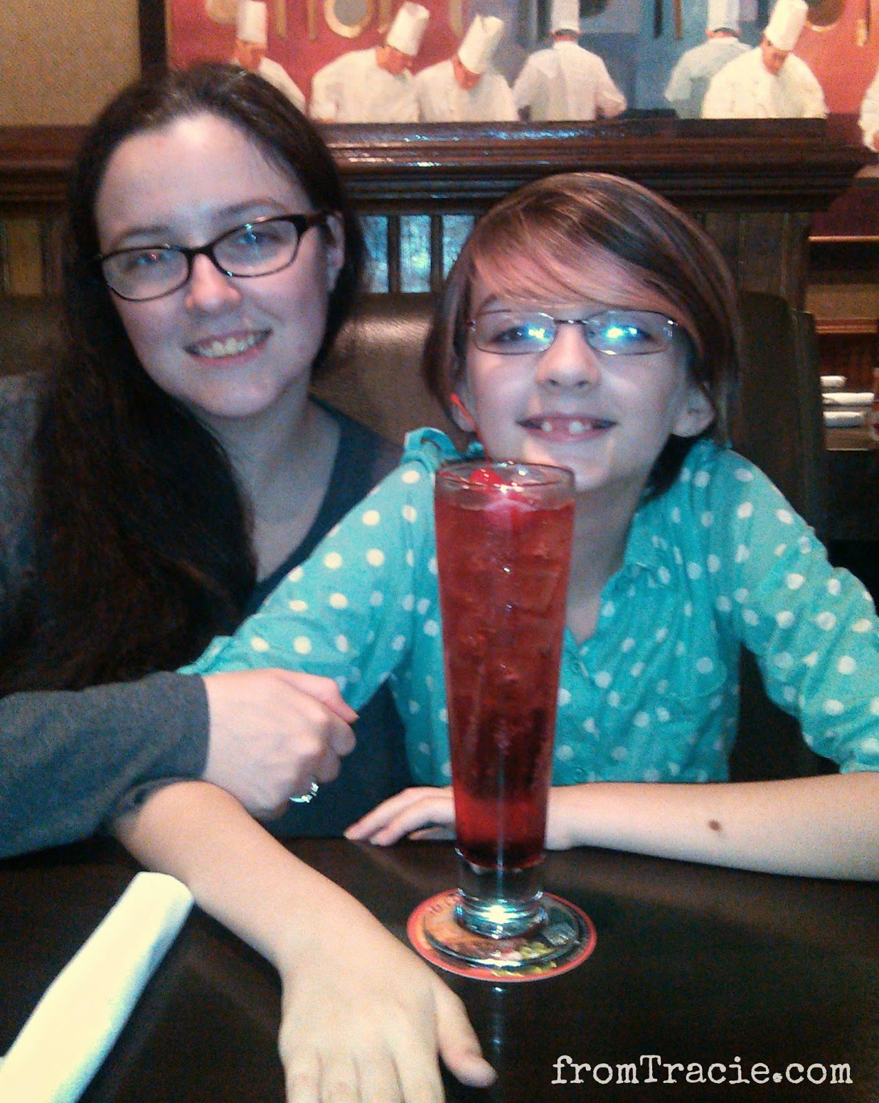 Shirley Temple in a fancy glass