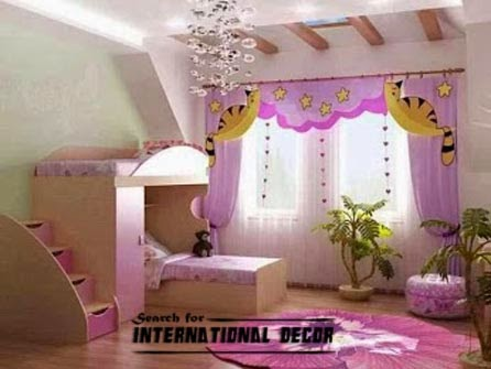 stylish girls curtains, pink curtains