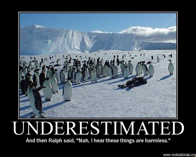 Underestimated...