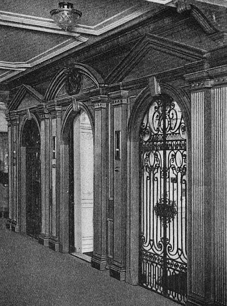 Titanic 1st class elevators