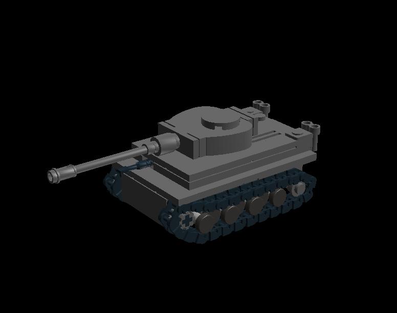 Lego mini tank Tiger I