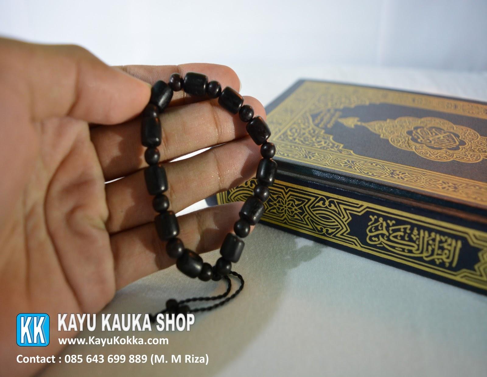 Jual Gelang Tasbih Kayu Kokka Kaukah Asli Turki Original Koka Kauka Kaoka Warna Hitam Berkaromah