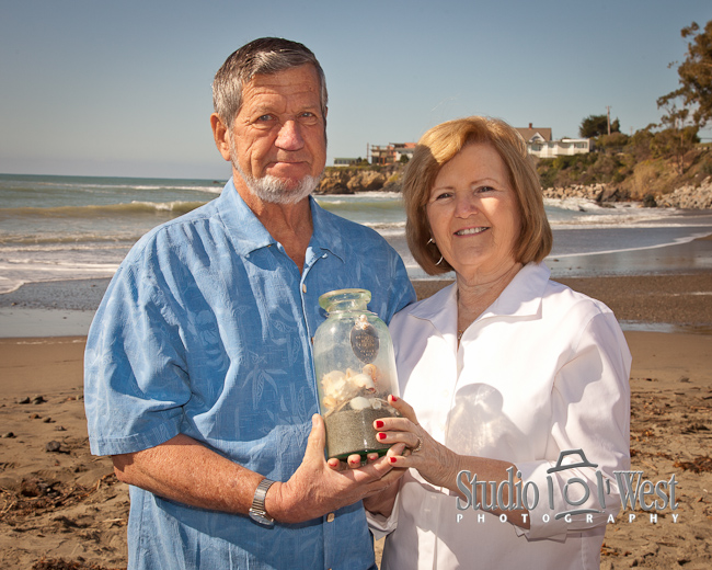 50th annaversery shell ceremony, Cayucos beach photographer