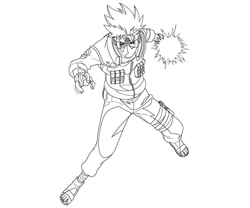 Kakashi hatake 11 coloring crafty teenager for Kakashi coloring pages