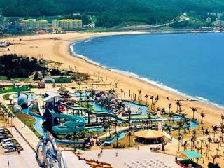 Praia em Yangjiang china brasileiro na china
