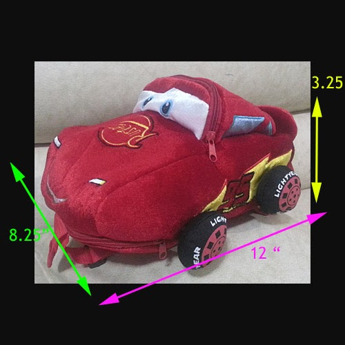 disney pixar cars cotton character backpack