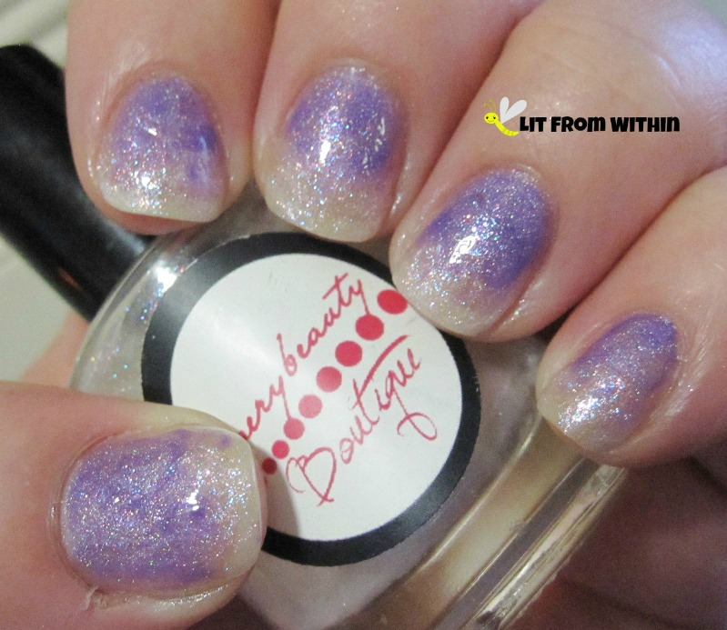 unusual gradient with Everybeauty Boutique Frosty Freeze and Different Dimension Orchid You Not