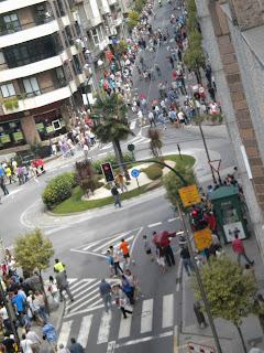 Momentos posteriores al paso de la Vuelta por Sanjurjo Badía